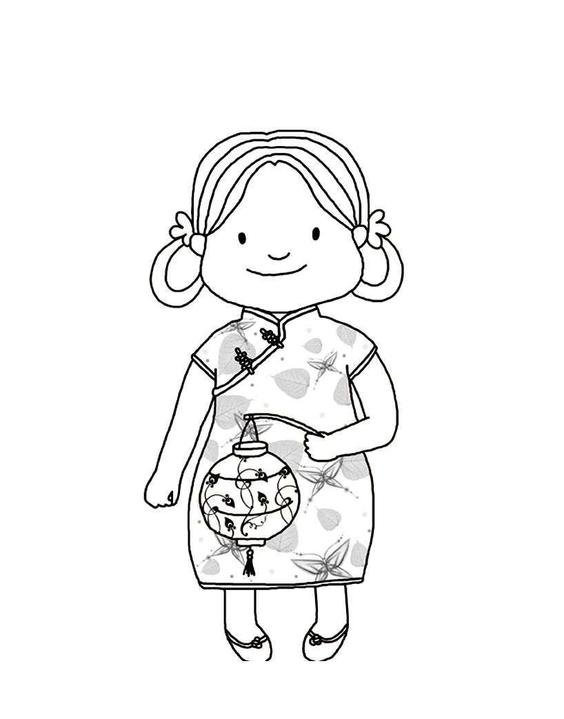 Chinese Coloring Pages Including New Year Pictures