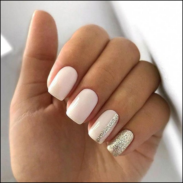 113 Elegant Nail Designs For Short Nails Page 22 Myblogika Com Casual Nails Blush Nails Square Acrylic Nails