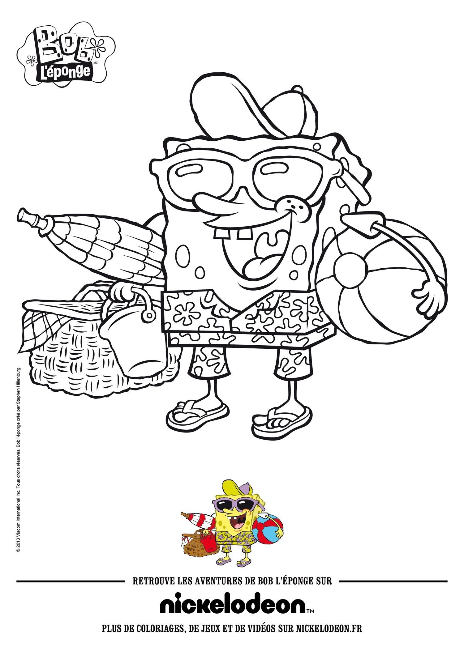 Spongebob Squarepants Coloring Pages Hellokids From The