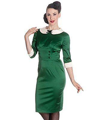 fcc9786e56 Hell Bunny Wiggle Dress Green
