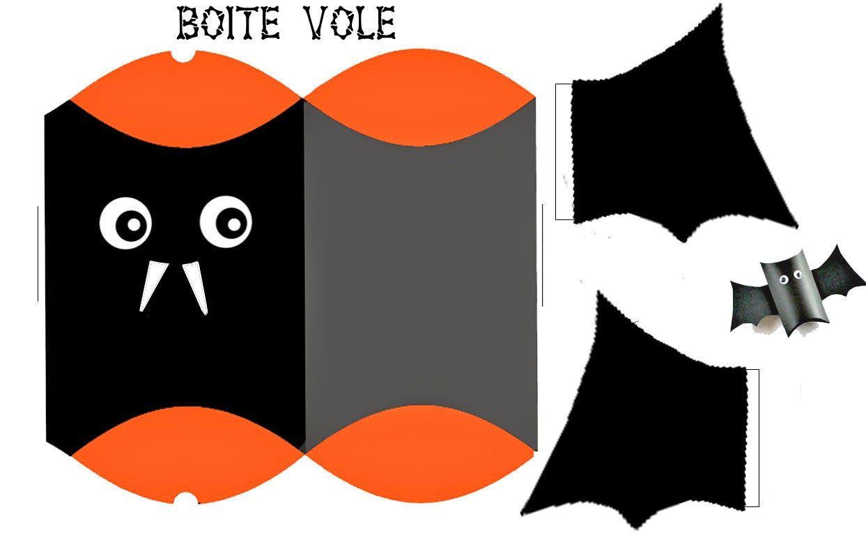 Caja Almohada con Forma de Murciélago para Imprimir Gratis ...