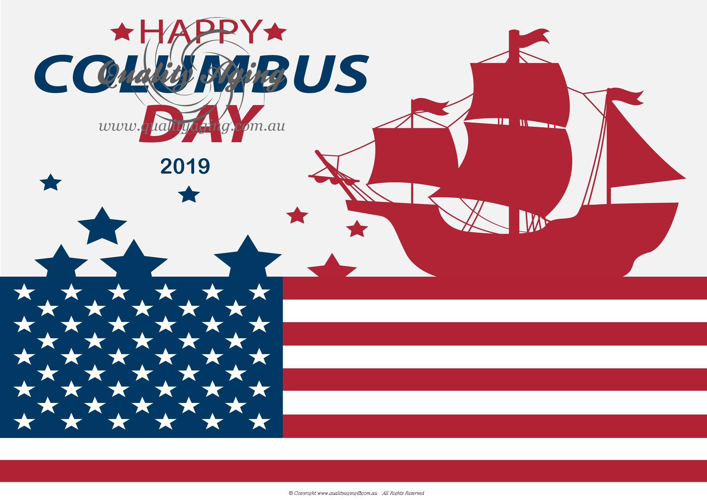 October Event Posters Without Date Quality Aging Happy Columbus Day Columbus Day Event Poster