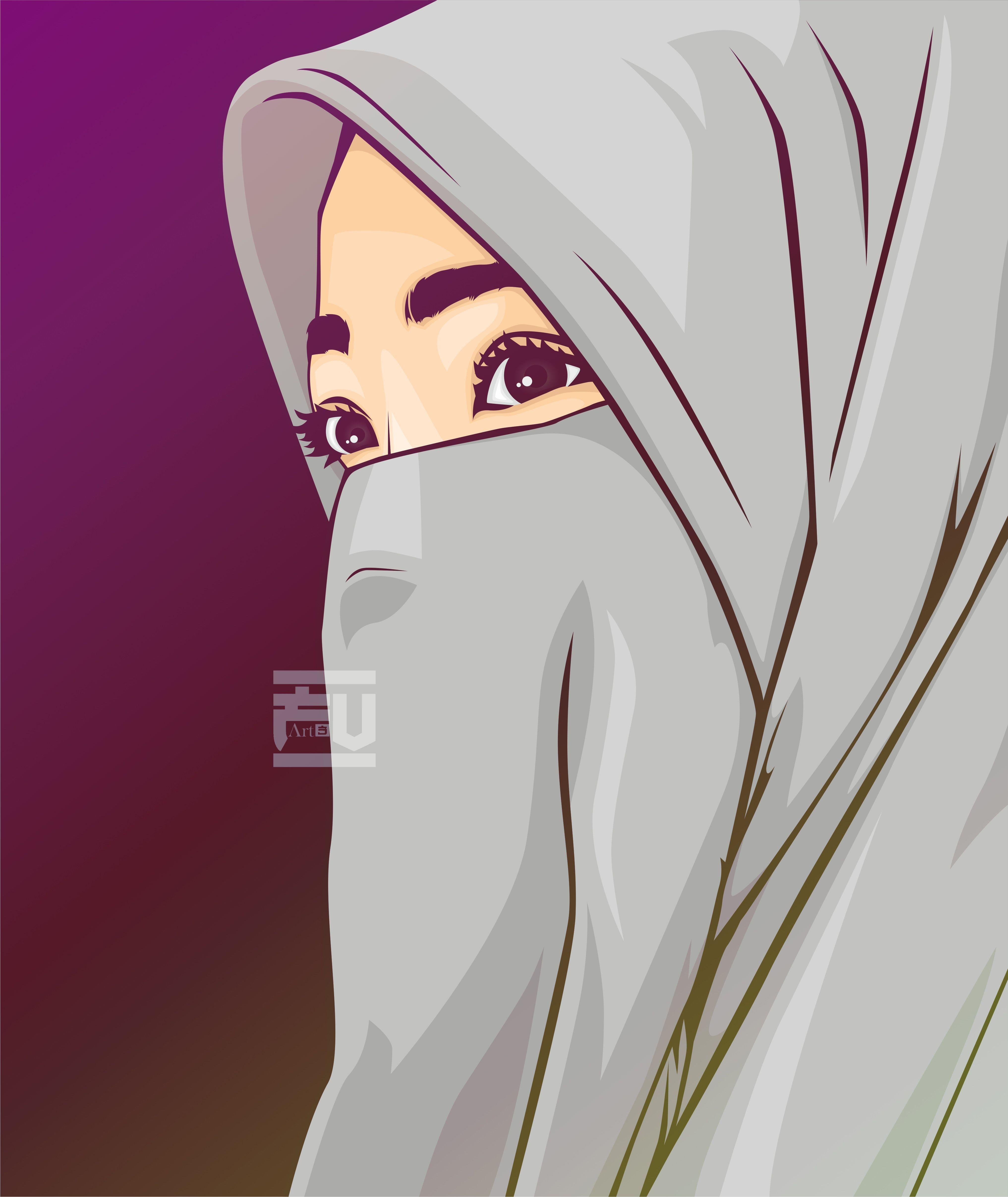 Unduh 850 Gambar Animasi Hijab Hd Paling Keren Kartun Gambar Animasi