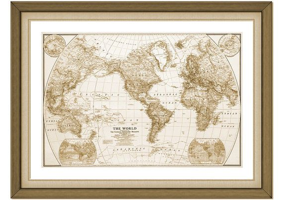 Vintage 1860 large map of the world set of 6 prints vintage map vintage 1860 large map of the world set of 6 prints vintage map print vintage map home decor rustic world map world map art poster gumiabroncs Image collections