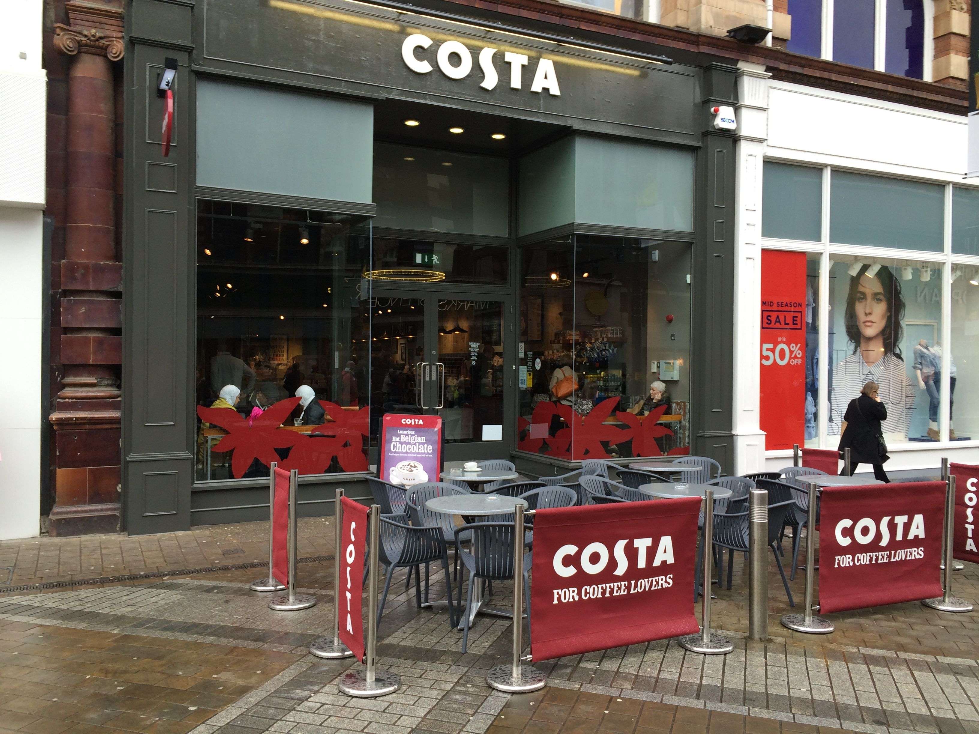 Costacoffee At Leeds Exterior Furniture Coffee Kitchen