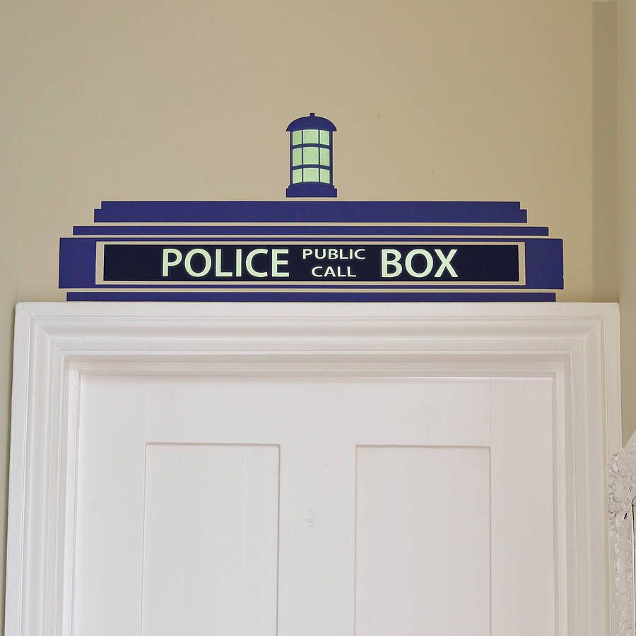 police box wall sticker wall sticker tardis and police box. Black Bedroom Furniture Sets. Home Design Ideas