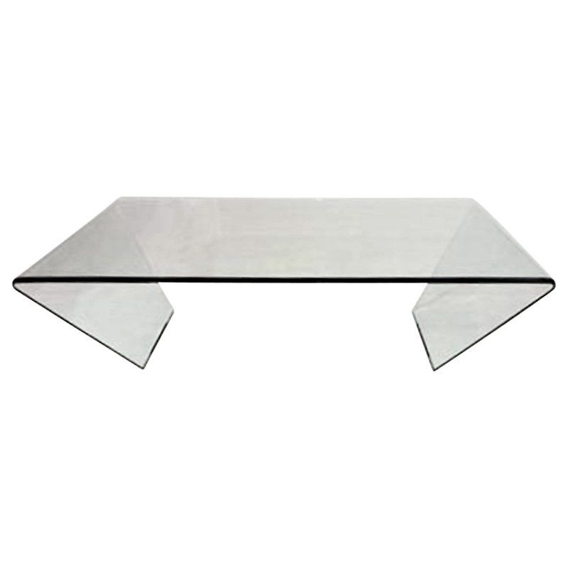 Chintaly Bent Gl Rectangular Coffee Table 72102 Rct Ct