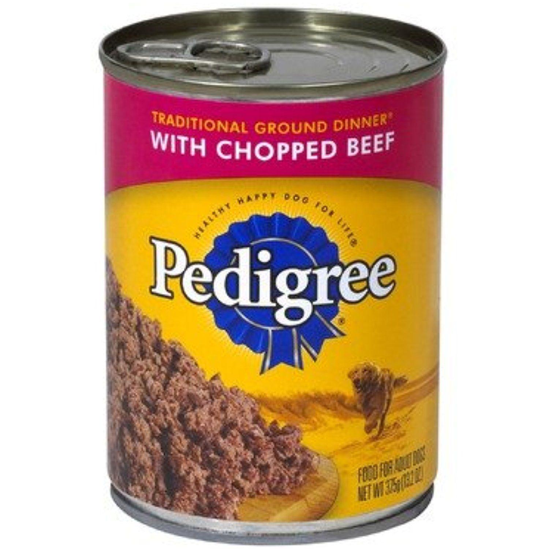 Pedigree chopped ground dinner chicken rice canned dog