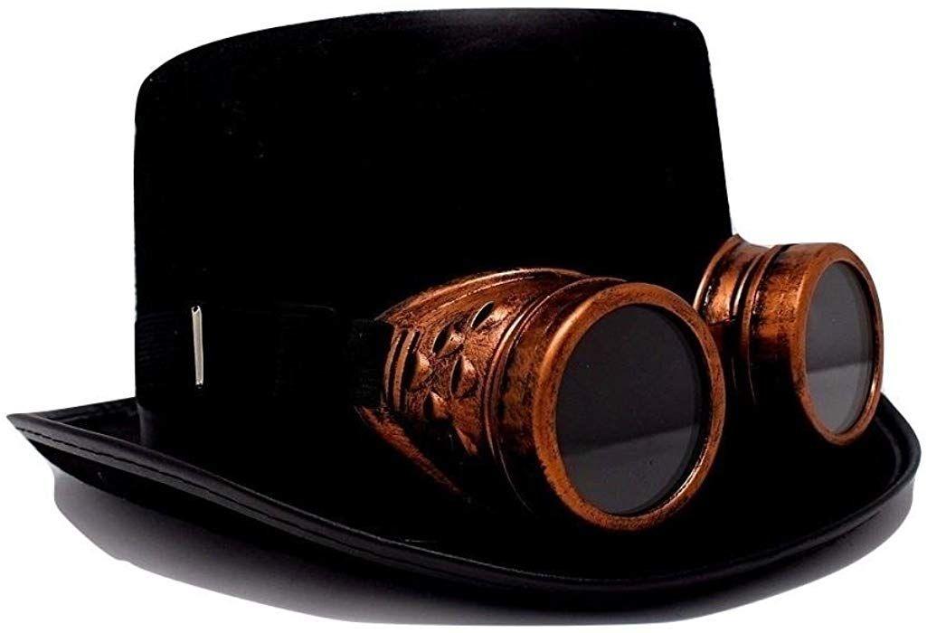 Amazon.com  Steampunk Top Hat-Black Felt Top Hat fc37bf04de25