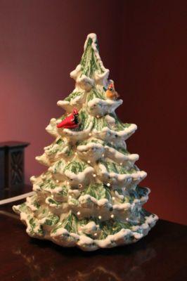 Ceramic Christmas Tree Painting Ideas.Large Feather Ceramic Christmas Tree With Cardinals 40 00