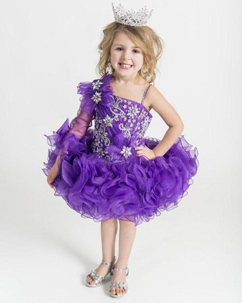 Click to buy ucuc ball gown organza scalloped flower girls
