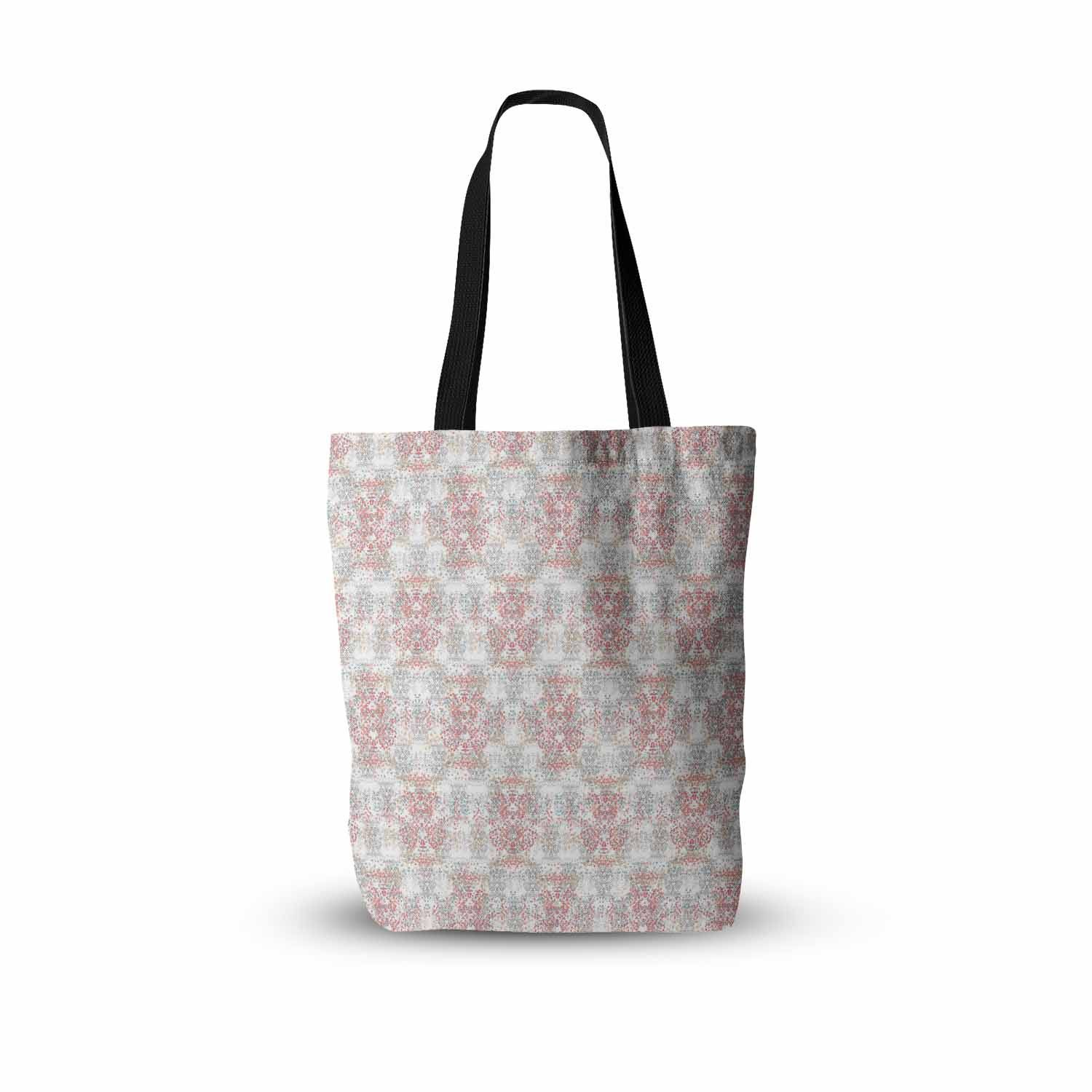 "Carolyn Greifeld ""Damask Splatter"" Pink Gray Everything Tote Bag"