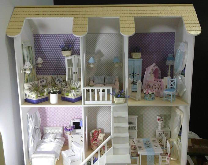 Wooden Dollhouse/Barbie Doll House/Dollhouse Furniture/Living Room Furniture /Sofa For Part 49