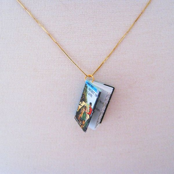 Hardy boys miniature book necklace must have this hardy boys hardy boys miniature book necklace must have this aloadofball Choice Image