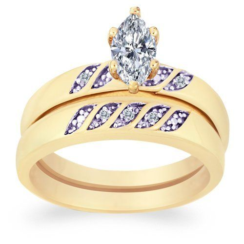 Limoges Jewelry Genuine Diamond & Marquise CZ Wedding Ring Set Limoges Jewelry. $39.99. Elegant rings at prices you'll love