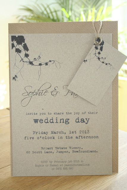 Vine Vineyard Theme Wedding Invitation Andrea Your Printed Stuff