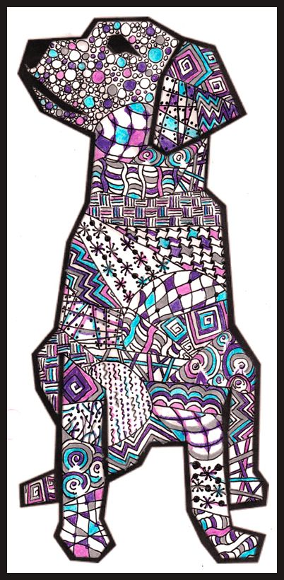 Clip Art Dog Zentangle Stuff Dog Art And Maybe A Few
