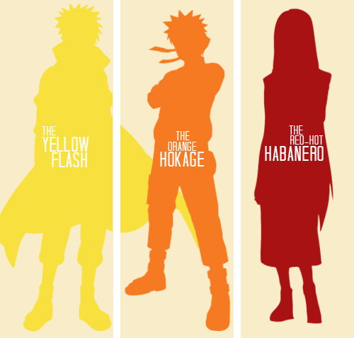Naruto Shippuden; Lemme guess, 1st one is Minato, 2nd one is Naruto, and the 3rd one is Minatos wife (: