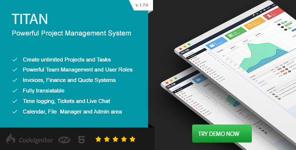 TITAN - Project #Management System - #CodeCanyon Item for