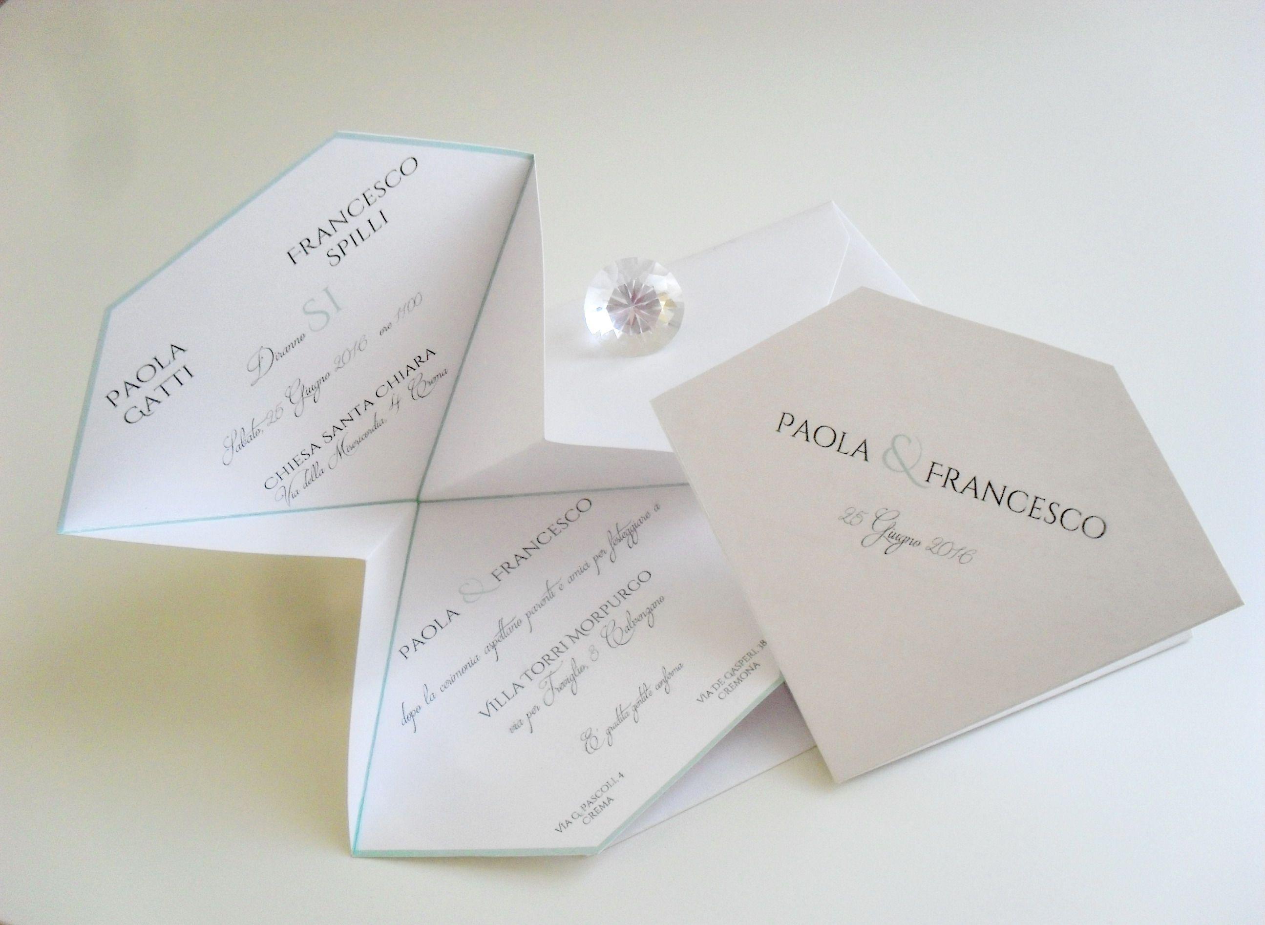 Tableau Matrimonio Tema Diamanti : Partecipazione a diamante per un tema colazione da tiffany