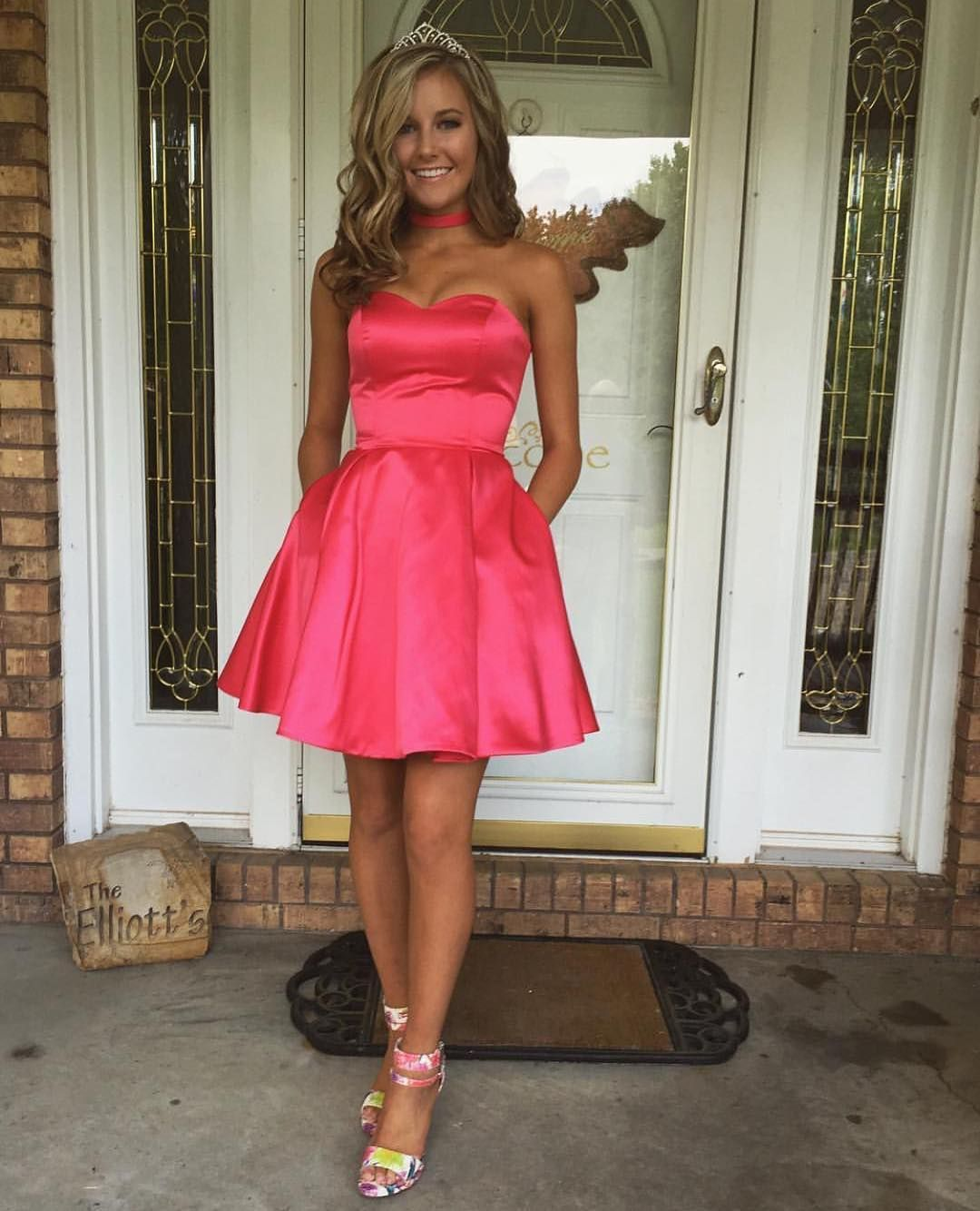 Cute cocktail dressmini evening party dressabove knee prom dress