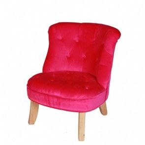 hochwertiger sessel f r kinder mit dunklem rosa samt bezogen kindercouchenland kindersessel. Black Bedroom Furniture Sets. Home Design Ideas