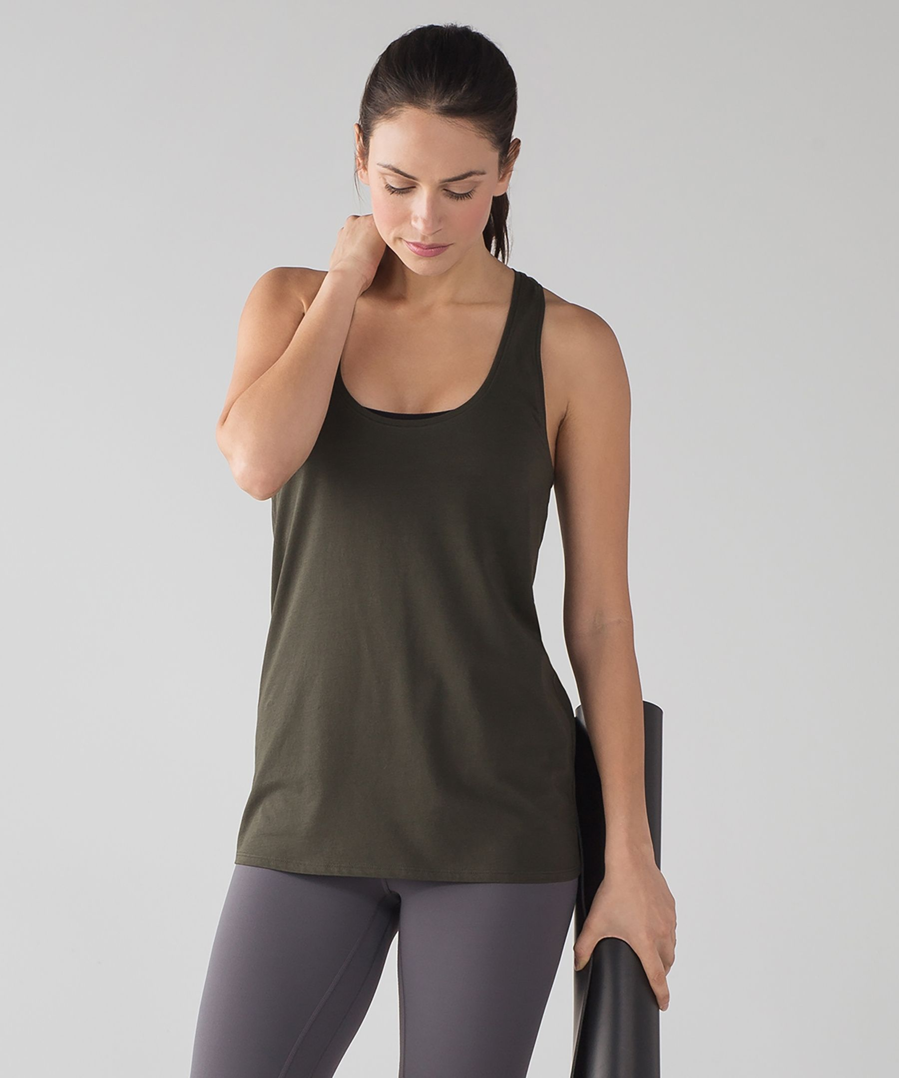 Love tank dark olive clothes for women over 50