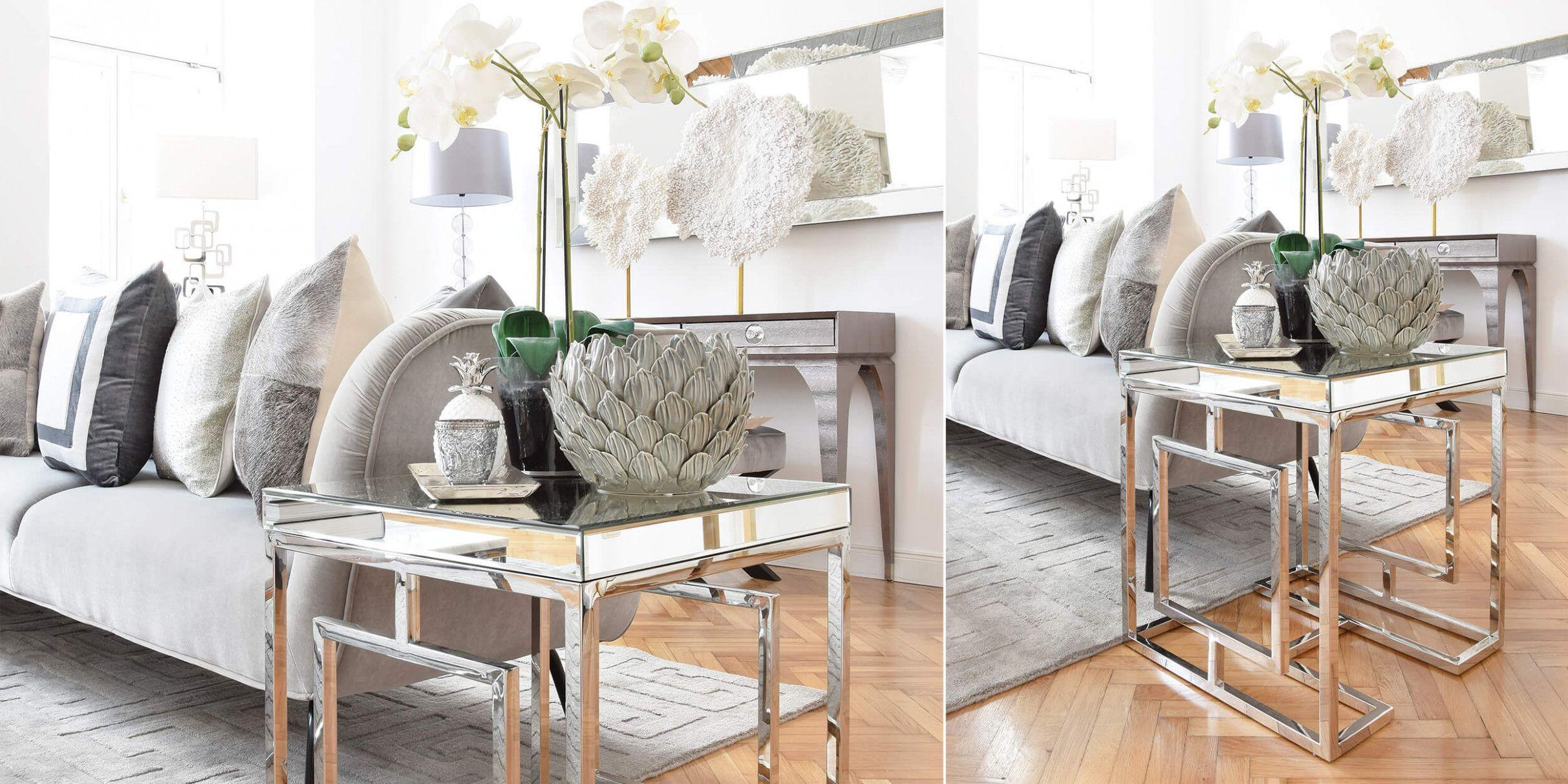 Wohnzimmer Deko Silber