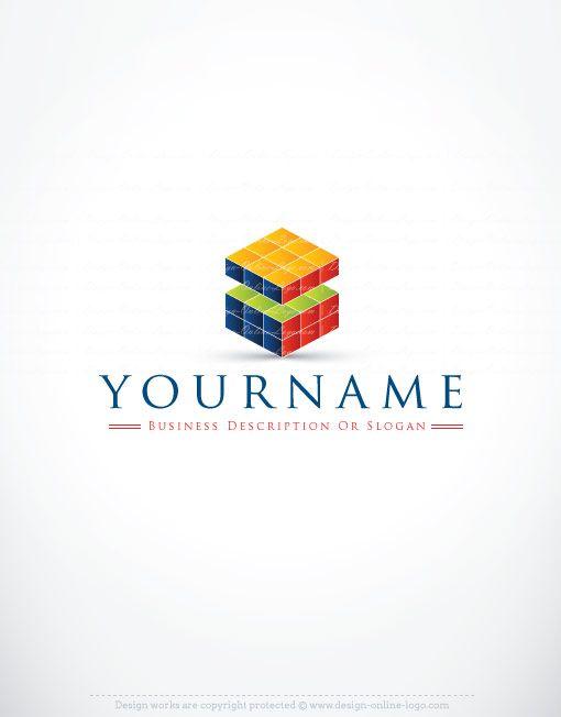 3070 Rubiks Cube Logo Design Templates
