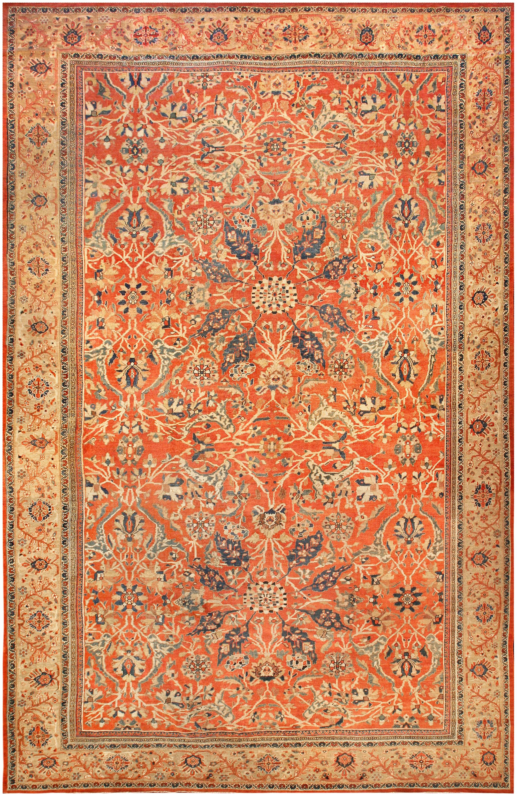 Antique Persian Sultanabad Rug Bb7190 By Dlb Sultanabad Rug Rugs On Carpet Antique Persian Rug