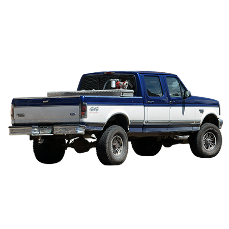 A Blue And White Pickup Truck Driving Away From You Me The Photographer Just Leaving Us All Behind Ford Pickup Trucks Blue