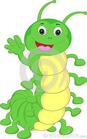 Cute Caterpillar Waving Cartoon Cute Drawings Cartoon Drawings