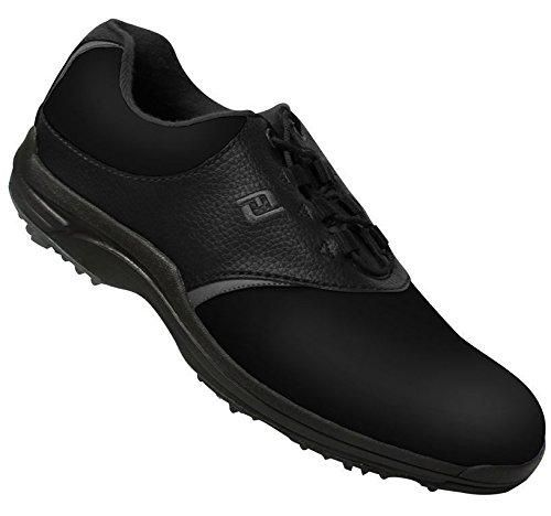 Footjoy Closeout Greenjoys Men S Golf Shoes Black Charcoal Best Golf Shoes Footjoy Golf Shoes Golf Shoes Mens