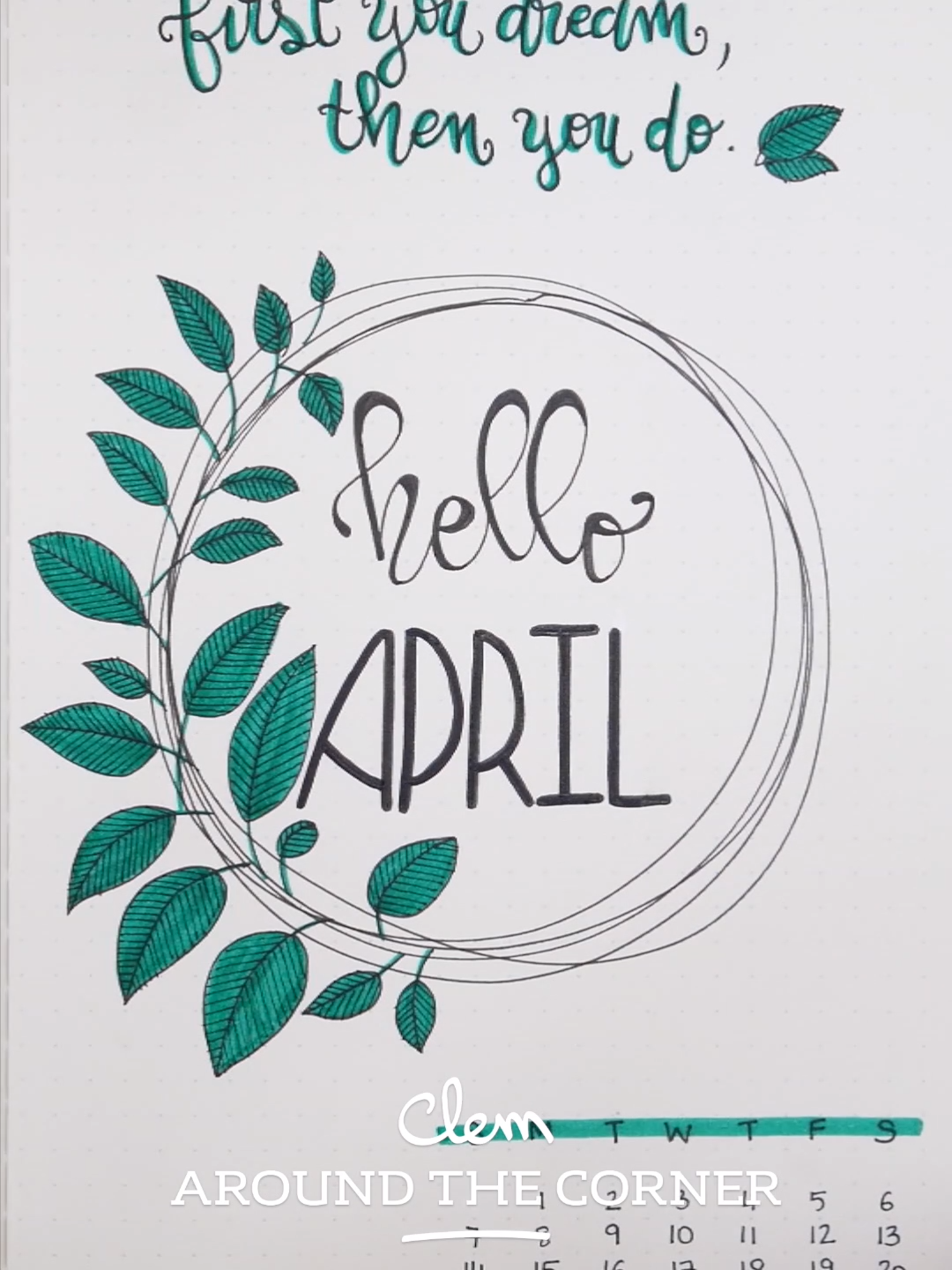 BUJO - Monthly Cover : April - Buds Inspiration - Clem Around The Corner #bulletjournaling