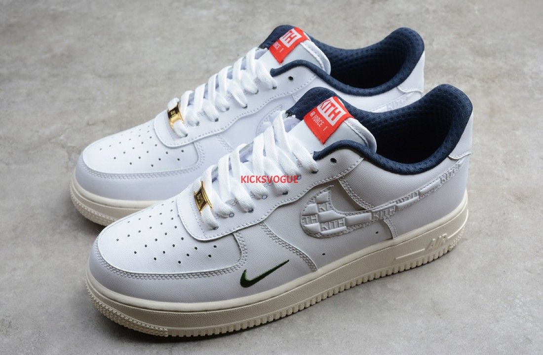 Nike x KITH Air Force 1 Low White University Red Metallic ...