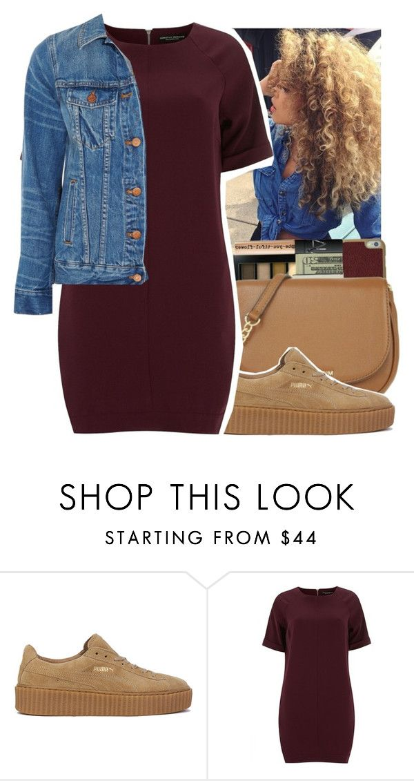 """""""should i go out or nah?"""" by aribearie ❤ liked on Polyvore featuring Puma, Dorothy Perkins and Madewell"""