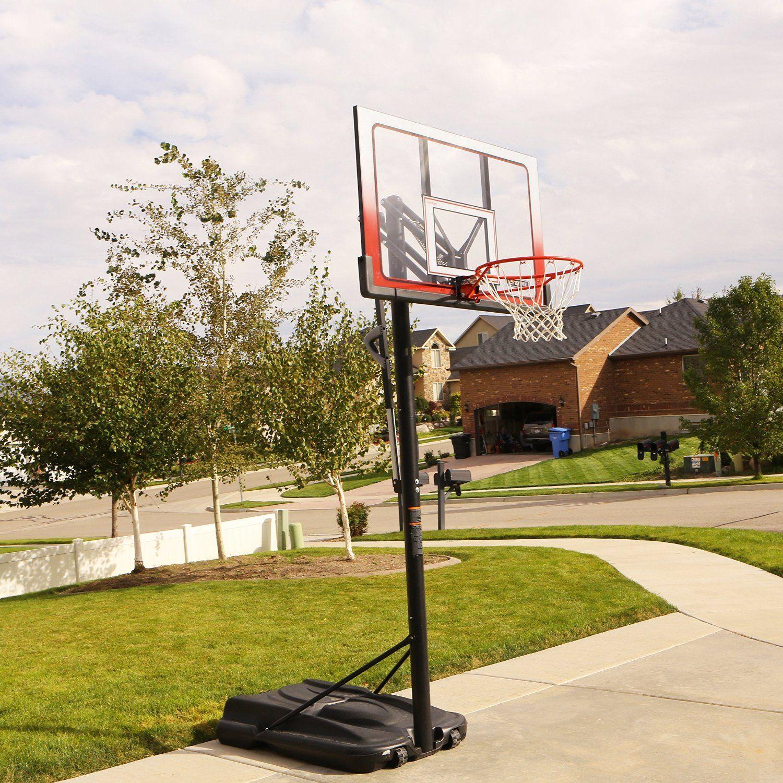 Atlas Portable Basketball System 1558 52 Inch Backboard Portable Basketball Hoop Basketball Hoop Lifetime Basketball Hoop