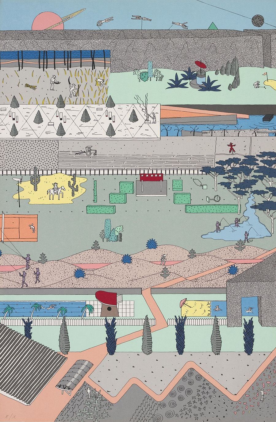 """Architecture Drawing Posters alex wall, office for metropolitan architecture (oma), """"the"""