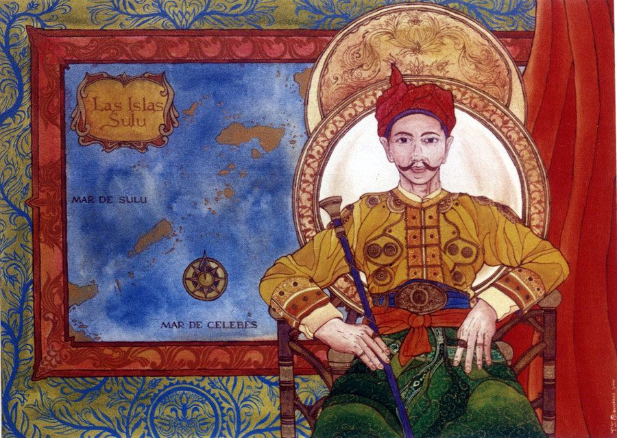 Ang Sultan Ng Sulu The Sultan Of Sulu By Alamat Ng Lakan 2000 Acrylic On Canvas Commission For
