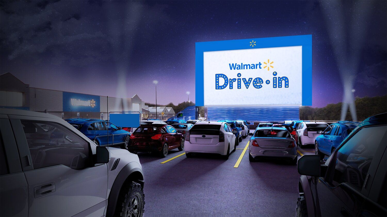 Wal Mart Will Turn Their Parking Lots Into Makeshift Drive In Movie Theaters Check Out At Www Spoilersin In 2020 Drive In Movie Theater Drive In Movie Drive In Theater