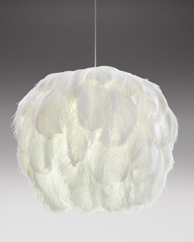 Feather Pendant Light by Haldane Martin #DIY : feather pendant light - www.canuckmediamonitor.org