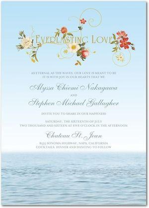 Everlasting Love - Signature White Wedding Invitations - Claire Pettibone