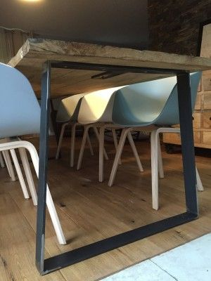pied de table en acier | Pieds sous table | Esszimmerschrank ...