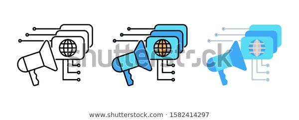 Business Strategy Digital Marketing Plan Icon Stock Vector Royalty Free 1582414297 Digital Marketing Plan Business Strategy Marketing Plan