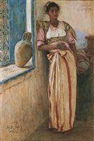 Mannoubiyya - Portrait of a Tunisian woman von Alexandre Roubtzoff
