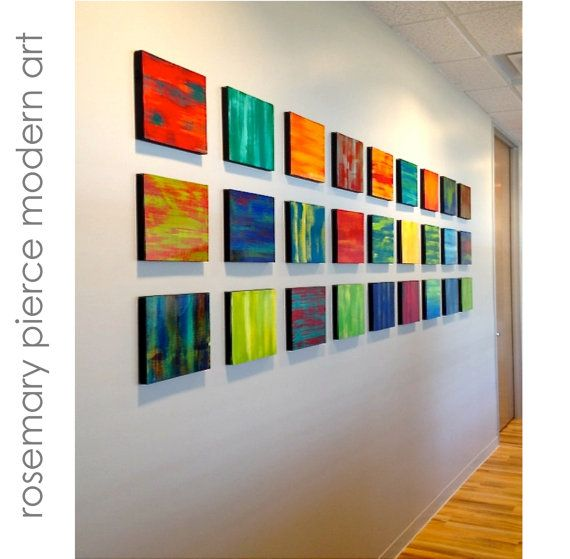 Modern Wall Art | Wooden Wall Art | Abstract Paintings | Contemporary Art | Colorful Wall Art | Modern Office Art #artinstallation