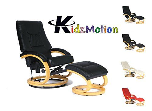 Kidzmotion Leather Reclining Swivel, Round Base Gaming Chair