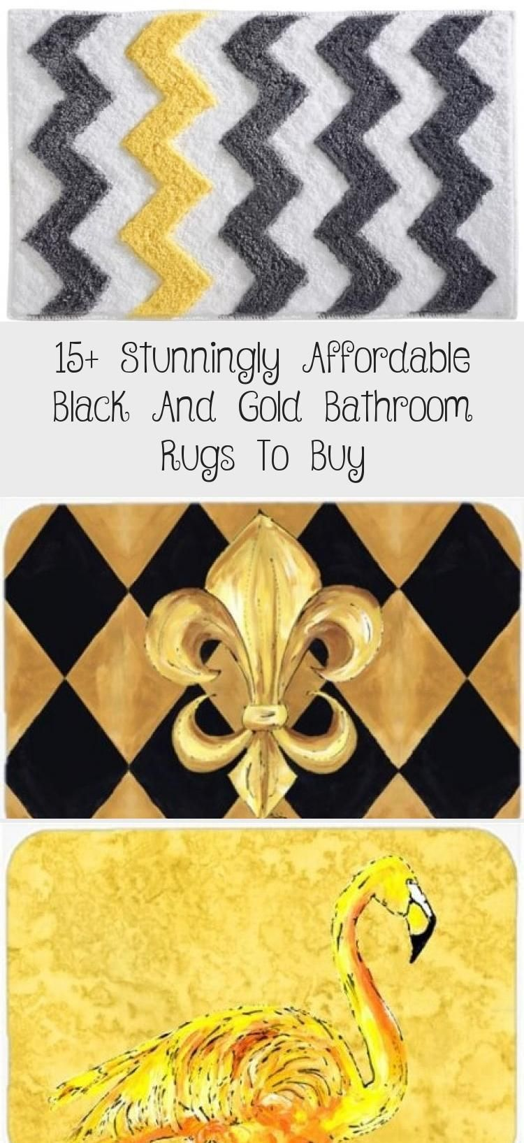 37++ Black and gold bathroom rugs information