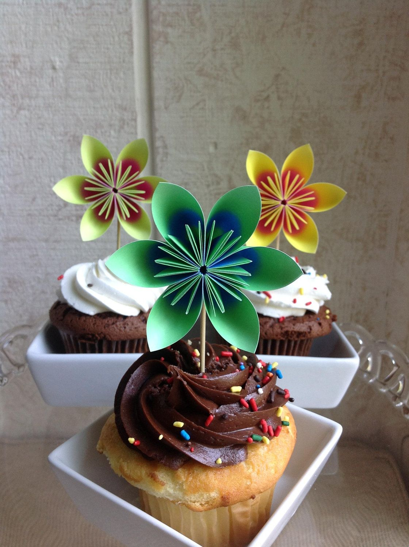 flower cake toppers etsy