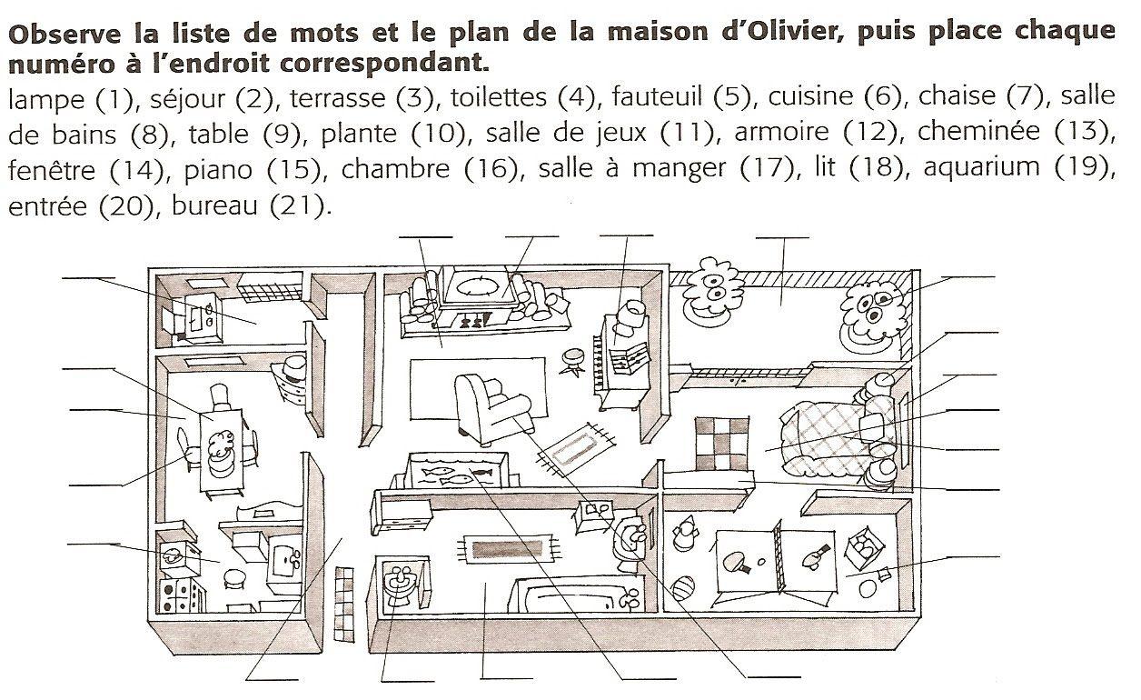 Français Langue Étrangère - A1: maison